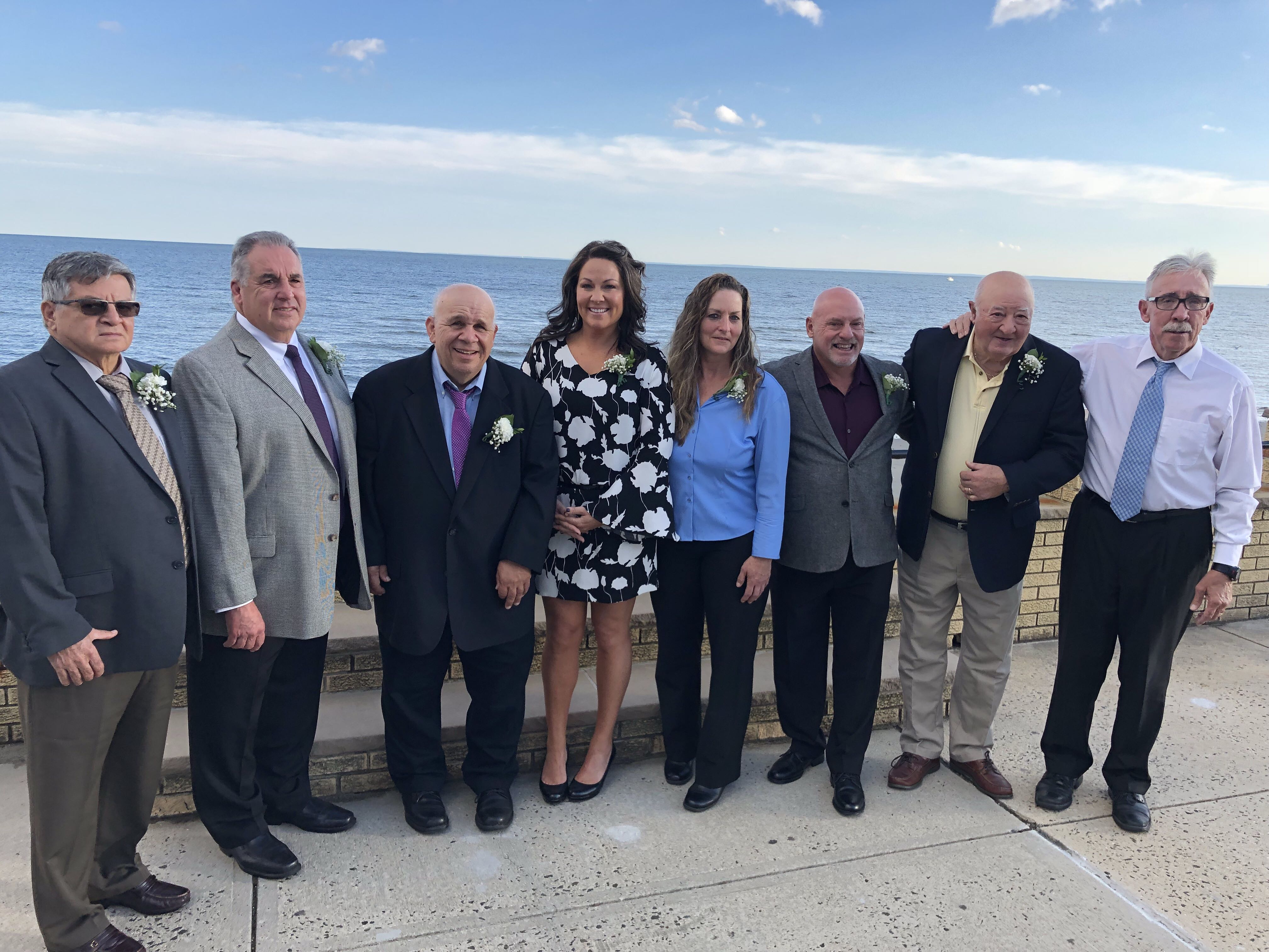 "USA Softball of Connecticut inducted its newest Fast Pitch Hall of Fame members at its annual awards dinner on Saturday, October 20 at Costa Azzurra in Milford.Pictured above are (left to right):  Willie Santiago, Mark Poulin, John ""Scooter"" Zappone, Kristine Botto Drust, Donna McLean, John Couture, John Fullana and Mark Callahan. Not pictured is Gus Prete."